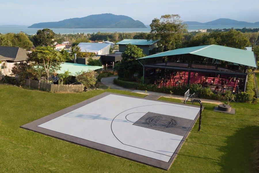 Basketball Court Drone Shot