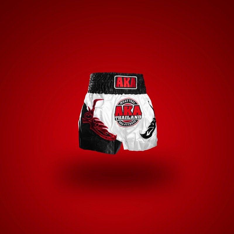 White Muay Thai Shorts Front Angle